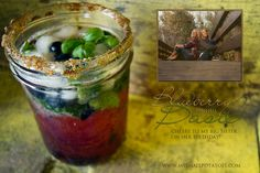 Kid-Friendly Blueberry Basil Mojito...Cheers to My Big Sister on Her Birthday!