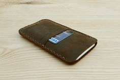 All Natural Leather Phone Case, Samsung Galaxy S7 Phone Case, Men's Cell Phone Cover