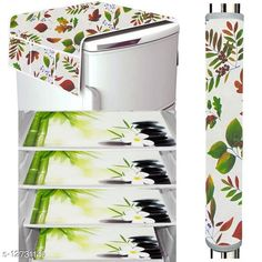 Fridge Covers LooMantha Combo Pack of 1 Pc Fridge Top Cover, 1 Pc Handle Cover & 4 Pc Fridge Mats  Material :Top Cover- Knitting ,Mat -PVC Dimension: (L x W) - Top Cover - 40 in X 20 in,  Mat -12 in x 18 in,Handle Cover: 15 cm X 30 cm Description: It Has 3 Pieces Of Fridge  Mats,1 Piece Of Fridge Top Cover & 1 Piece Of Handle Cover Work : Printed Sizes Available: Free Size *Proof of Safe Delivery! Click to know on Safety Standards of Delivery Partners- https://ltl.sh/y_nZrAV3  Catalog Rating: ★4.1 (22938)  Catalog Name: Trendy Home & Kitchen Utilities Cover Combo Vol 4 CatalogID_244735 C131-SC1623 Code: 591-12731140-
