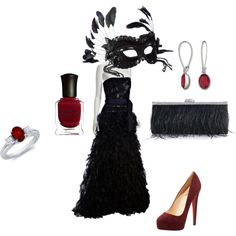 created by sarahdunning perfect for this years prom theme. Of course with the mask from Italy.