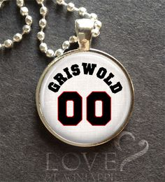 """CHRISTMAS VACATION GRISWOLD 00 Inspired Pendant Silver 1"""" Jewelry Chevy Chase #Handmade #Pendant"""