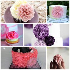 Ruffle Flower Collage