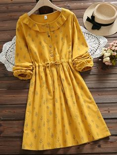 Girly Outfits – Page 7708060046 – Lady Dress Designs Stylish Dresses, Simple Dresses, Cute Dresses, Vintage Dresses, Casual Dresses, Fashion Dresses, Dresses With Sleeves, Sleeve Dresses, Floral Dresses