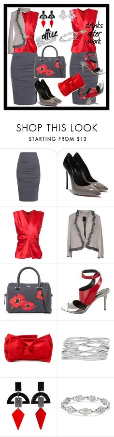"""""""Office To Drinks After Work"""" by kareng-357 ❤ liked on Polyvore featuring Nicole Miller, Isabel Marant, Ivan Montesi, Kate Spade, Prabal Gurung, RED Valentino, M&Co, Toolally and CZ by Kenneth Jay Lane"""