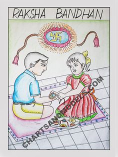 Buy Raksha Bandhan Charts Online for schools as well as students regarding their project. We offer in delhi ncr and abroad.