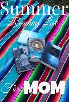 Summer Reading List for MOM - Adventures in Wunderland I Love Books, Good Books, Books To Read, Summer Reading Lists, I Love Reading, Reading Time, Book Club Books, Book Lists, Books For Moms