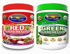 Divine Health Twin Pack One Green Supremefood30 Day Supply740 oz  One Red Supremefood 30 Count63oz ** Want additional info? Click on the affiliate link Amazon.com on image.