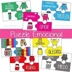 Juego monstruo de colores, freebie emociones, juego emociones para niños, aprender con emociones, aprender colores, descargable monstruo de colores