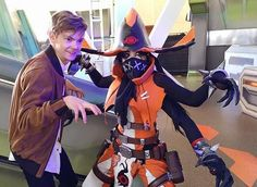 That one time I met @sangsterthomas at the San Diego Comic Con event  Orendi cosplay made by me!  @battleborngame