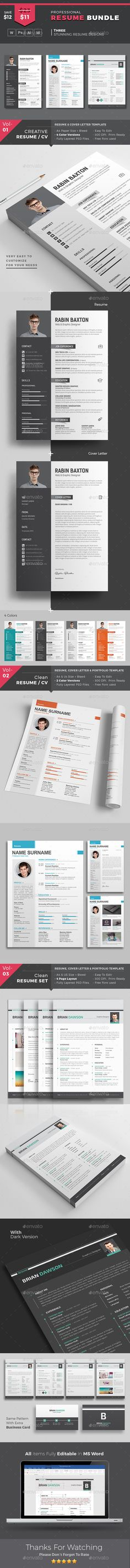 Minimal and Clean Resume Minimal, Psd templates and Cleaning - psd resume templates