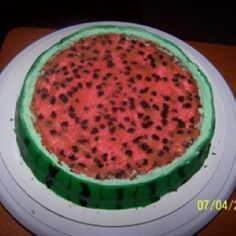 Watermelon cake.