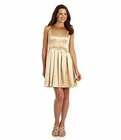 Maggy London Luster Crepe FitandFlare Dress #Dillards