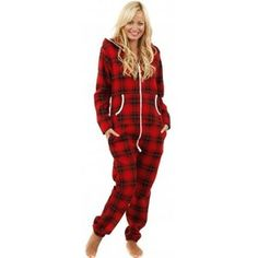 This red tartan women's onesie is perfect for those lazy days in the house. Relaxed fit for an easy wear, onesies are a must have Lazy Day Outfits, Onesie Pajamas, Easy Wear, Winter Wardrobe, Tartan, Outfit Of The Day, Winter Fashion, Onesies, Women Wear
