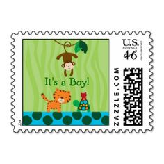 Rainforest Jungle Animal Postage Stamps