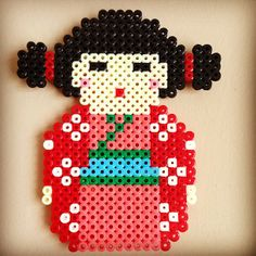 Kokeshi perler beads by perlercreations
