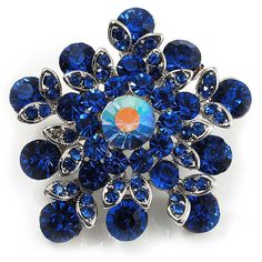 Swarovski Crystal Star Brooch (Navy Blue) *** Click image to review more details. (This is an affiliate link and I receive a commission for the sales)