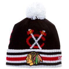 Image result for blackhawks knit hat
