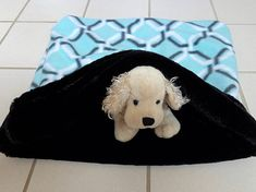 Snuggle Sack Pet Faux Fur Bedding Sleeping Bag Dog Cat Sleep