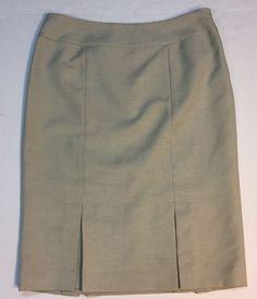 Black Label Evan Picone Modest Women's Skirt Size 8 Beige Career Business  | eBay