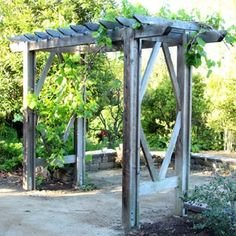 How to build a beautiful DIY pergola ( beginner friendly DIY grape arbor )! Free building plan with step by step drawings and lots of detailed photos. Build it easily for your garden without buying pergola kits! - A Piece of Rainbow Diy Pergola, Diy Arbour, Pergola Cost, Building A Pergola, Pergola Canopy, Cheap Pergola, Outdoor Pergola, Wooden Pergola, Pergola Ideas