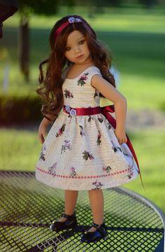 "SOLD ""Garden Bliss"" Dress, Outfit, Clothes for 20"" Dianna Effner Maru & Friends  #LuminariaDesigns"