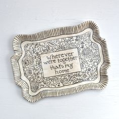 Personalized Pottery Tray Made to Order  by chARiTyelise on Etsy