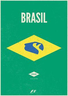 Brazilian Grand Prix concept poster #f1 #design #interlagos #motorsport #brasil