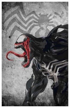 Minimalist Venom Poster by MINIMALISTPRINTS on Etsy