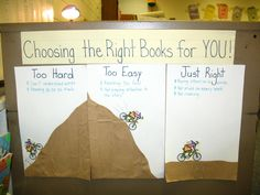 awesome way for the kids to decide on their own if a book is too easy, too hard, or just right