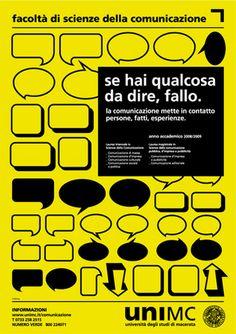 scienze comunicazione 2008 poster by iceberg