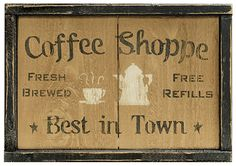 KP Creek Gifts - Coffee Shoppe Sign