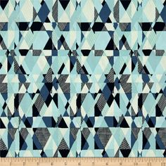 Art Gallery Essentials II Intertwill Azur from @fabricdotcom  Designed for Art Gallery, this cotton print fabric is perfect for quilting, apparel and home decor accents. Art Gallery Fabric features 200 thread count of finely woven cotton. Colors include navy, teal, blue and ivory.