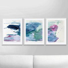 Abstracto arte Print Set Set de 3 impresiones pintura