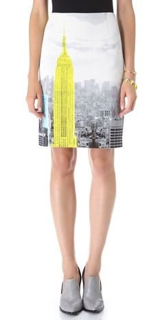 Love this skirt... Fresh, Fun; Totally Unexpected yet Completely Classic says me.  ☺ Tibi empire skirt #tibi