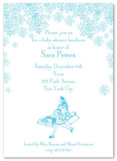 Snow Shower Baby Shower Invitations