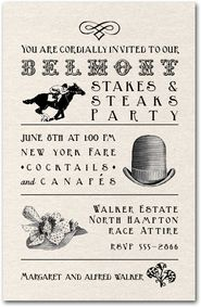 Belmont Stakes Vintage Billboard Party Invitations from TheInvitationShop.com