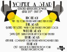 Sweeten Your Day Events: Hollywood Teacher Appreciation Week Very Detailed blog