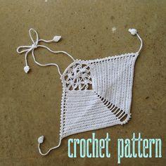 Crochet Pattern Flower of Life Crochet Crop Top by OfMars on Etsy