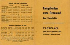 Fartplan Bogø-Stubbekøbing 1965. Arkiv: Sv. Brandt Jensen. fra EVP - 1 - Stationer: Stubbekøbing.