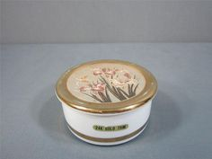 Trinket Box With Chokin Art On The Lid Made In Japan 24K Gold Trim Ceramic #trinketbox #jewelry #ebay