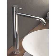 Hotbath Laddy verhoogde wastafelkraan geborsteld nikkel Sink, Bathroom, Home Decor, Products, Sink Tops, Washroom, Vessel Sink, Decoration Home, Room Decor