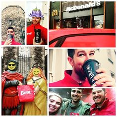 Are you as stone mad for a cup a Jo of a Tuesday morning as our #StrongbowAndAoife? Well we've got some good news for you early risers. Our #AudiA1BeatFleet are making their way around #WaterfordCity with plenty of delicious @mcdonaldsireland coffee giveaways for all!
