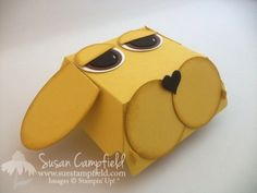 Make this cute Puppy Dog Box with the new Stampin' Up! Hamburger Box Bigz XL Die. See the video tutorial!