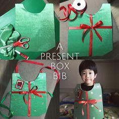 Present box bib idea  #christmas #diy