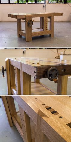 My big beauty, Bertha. Watch her being made on YouTube by clicking the picture. #woodworkingbench