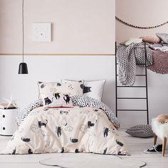Adairs Kids - Meow Quilt Cover Set Pink - Adairs Kids Bedroom - Quilt Covers & Coverlets - Adairs Kids Online