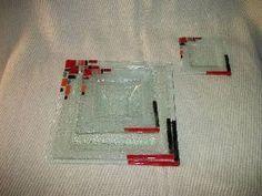 Vidrio: plato cuadrado en vitrofusion por smr