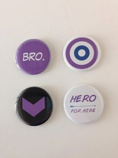 2 in. HAWKEYE Pin Pack- Big Pin Size - Clint Barton Kate Bishop Marvel Comic Inspired Pinback Buttons - Purple Superhero Power! - Geek Gift by BombDotComGeekery on Etsy