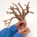 How-to for making paper bag twisted trees