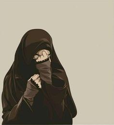 kumpulan anime kartun muslimah bercadar terbaru - my ely Hijab Niqab, Muslim Hijab, Mode Hijab, Cute Muslim Couples, Muslim Girls, Tmblr Girl, Hijab Drawing, Film Anime, Islamic Cartoon